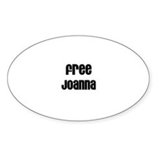 Free Joanna Oval Decal