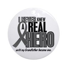 Never Knew A Hero 2 Grey (Grandfather) Ornament (R