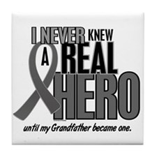 Never Knew A Hero 2 Grey (Grandfather) Tile Coaste