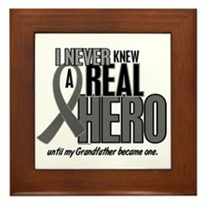 Never Knew A Hero 2 Grey (Grandfather) Framed Tile