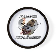 Im a lover Pitbull Dog Wall Clock