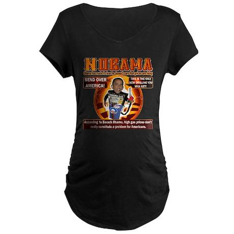 NOBAMA anti high gas Maternity Dark T-Shirt