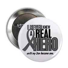 "Never Knew A Hero 2 Grey (Son) 2.25"" Button"