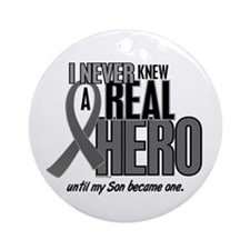 Never Knew A Hero 2 Grey (Son) Ornament (Round)