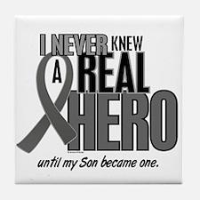 Never Knew A Hero 2 Grey (Son) Tile Coaster