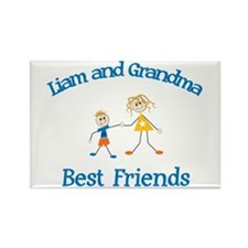 Liam & Grandma - Best Friends Rectangle Magnet