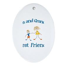 Liam & Grandma - Best Friends Oval Ornament
