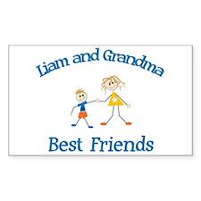 Liam & Grandma - Best Friends Rectangle Decal