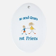 Lucas & Grandma - Best Friend Oval Ornament