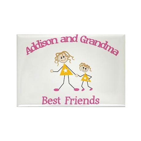 Addison & Grandma - Best Frie Rectangle Magnet