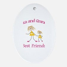 Alexa & Grandma - Best Friend Oval Ornament