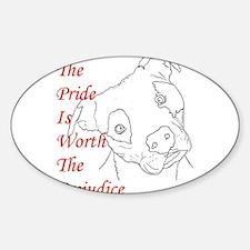 Pride and Prejudice Oval Decal