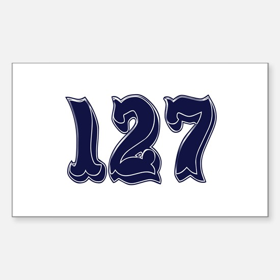 127 Rectangle Decal