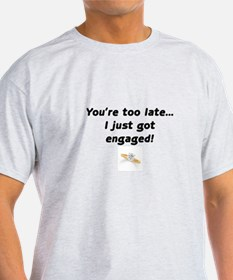 Just Engaged- T-Shirt