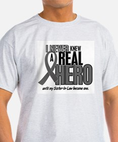 Never Knew A Hero 2 Grey (Sister-In-Law) T-Shirt