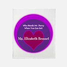 Get Elizabeth Bennet Throw Blanket