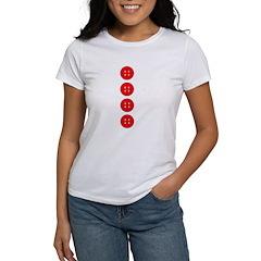Red Buttons Women's T-Shirt