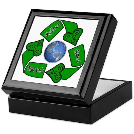 Reduce Reuse Recycle - Earth Keepsake Box