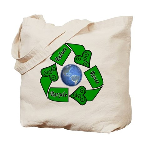 Reduce Reuse Recycle - Earth Tote Bag