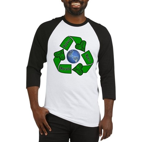 Reduce Reuse Recycle - Earth Baseball Jersey