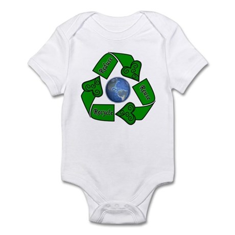 Reduce Reuse Recycle - Earth Infant Bodysuit