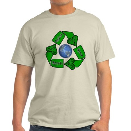 Reduce Reuse Recycle - Earth Light T-Shirt