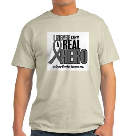 Never Knew A Hero 2 Grey (Brother) Light T-Shirt