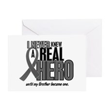 Never Knew A Hero 2 Grey (Brother) Greeting Card