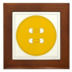 Yellow Button Framed Tile