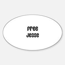 Free Jesse Oval Decal