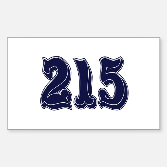 215 Rectangle Decal
