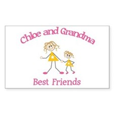 Chloe & Grandma - Best Friend Rectangle Decal