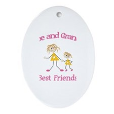 Chloe & Grandma - Best Friend Oval Ornament