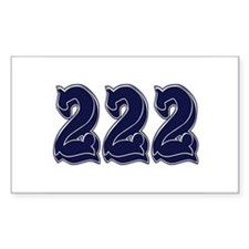 222 Rectangle Decal