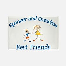 Spencer & Grandma - Best Frie Rectangle Magnet