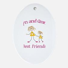Evelyn & Grandma - Best Frien Oval Ornament