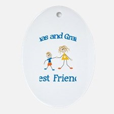 Thomas & Grandma - Best Frien Oval Ornament