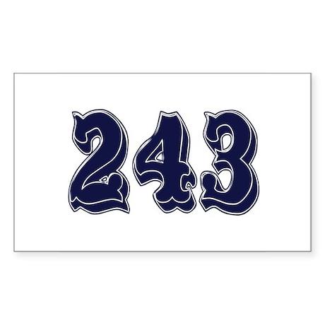 243 Rectangle Sticker