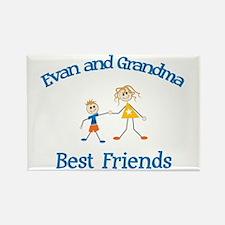 Evan & Grandma - Best Friends Rectangle Magnet