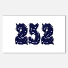 252 Rectangle Decal