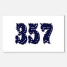 357 Rectangle Decal
