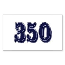 350 Rectangle Decal