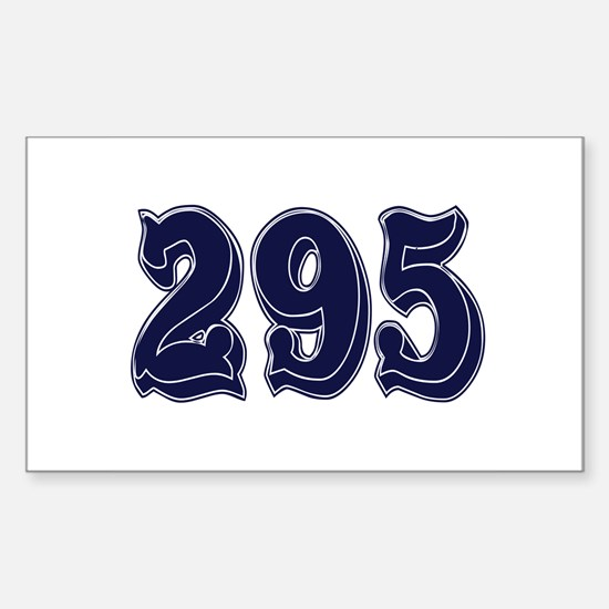 295 Rectangle Decal