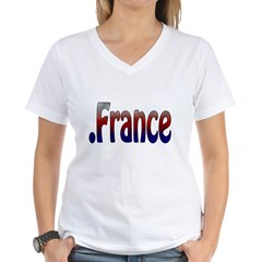 .France Women's V-Neck T-Shirt