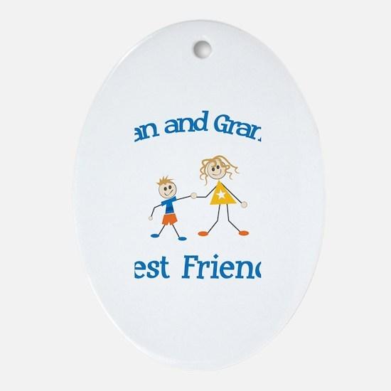 Kieran & Grandma - Best Frien Oval Ornament