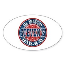 Steven's All American BBQ Oval Decal
