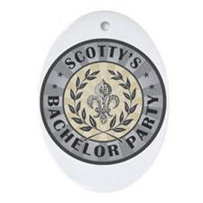 Scotty's Bachelor Party Personalized Ornament (Ova