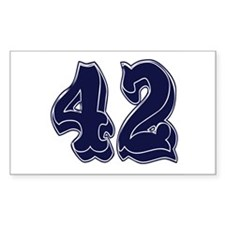 42 Rectangle Decal