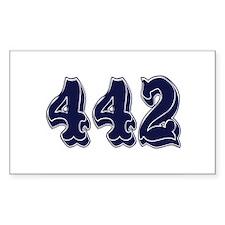 442 Rectangle Bumper Stickers