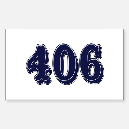 406 Rectangle Decal